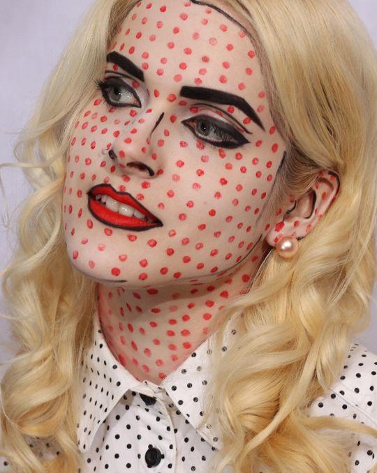 maquillarse-como-una-chica-de-cómic-en-halloween-2014