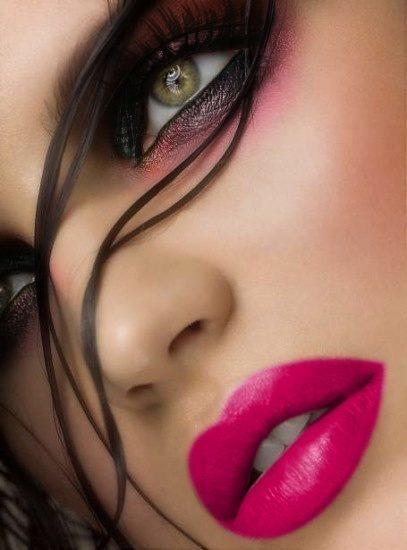 Ojos rosas y negros