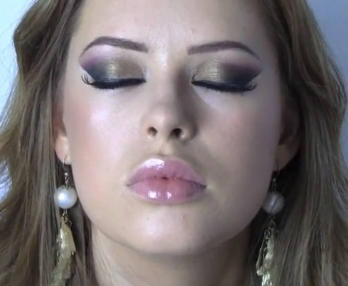 Resultado maquillaje arabe ojos exoticos