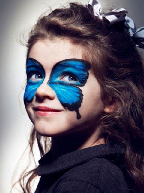 Maquillaje infantil de mariposa o mariquita para Carnaval 2015