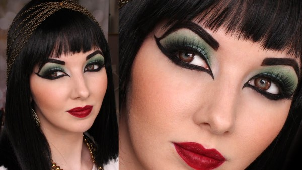 maquillaje-cleopatra-Halloween-2015-cejas-muy-marcadas