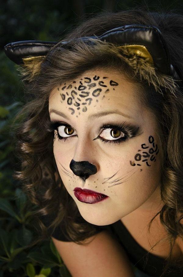 maquillaje-de-leopardo-para-halloween-paso-a-paso-manchas-en-la-frente