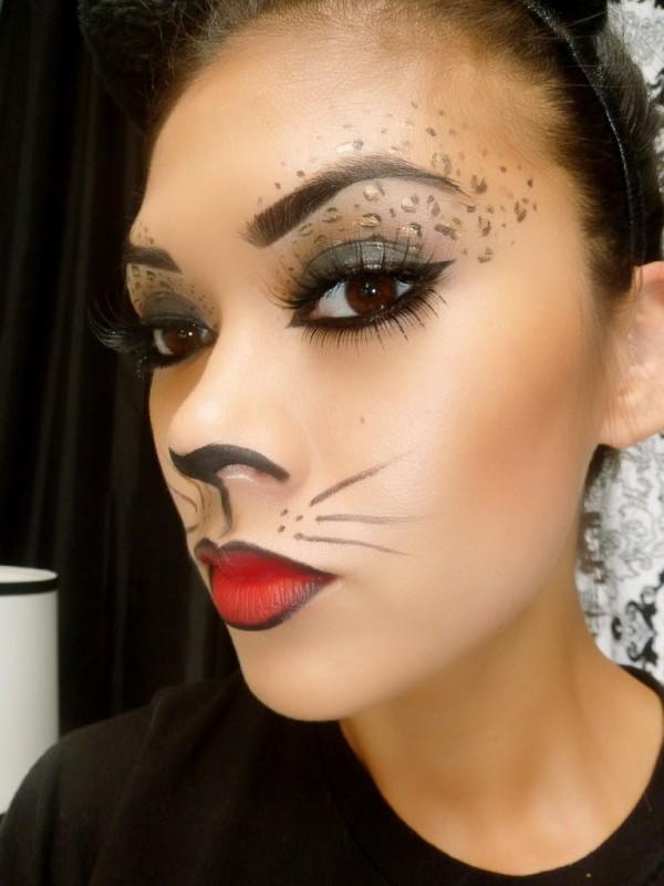 maquillaje-de-leopardo-para-halloween-paso-a-paso-nariz-pintada-bigotes