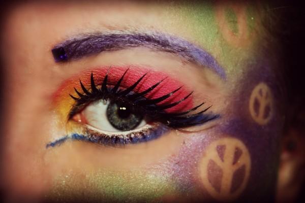 Otras ideas para el maquillaje de Hippie para Halloween 2015-sombras-colores