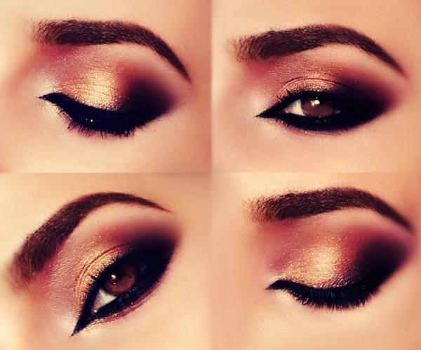 maquillaje-arabe-exotico-paso-a-paso-halloween-2015-ojos-dorados