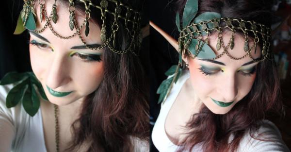maquillaje-de-duende-para-carnaval-2016-maquillaje-de-mujer-sombras-verdes-labios-verdes