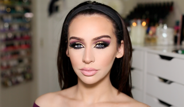 maquillaje-arabe-exotico-paso-a-paso-carnaval-2016-ojos-con-sombra-rosada