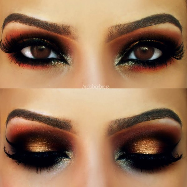 maquillaje-arabe-exotico-paso-a-paso-carnaval-2016-ojos-sombras-doradas-negras-rojas