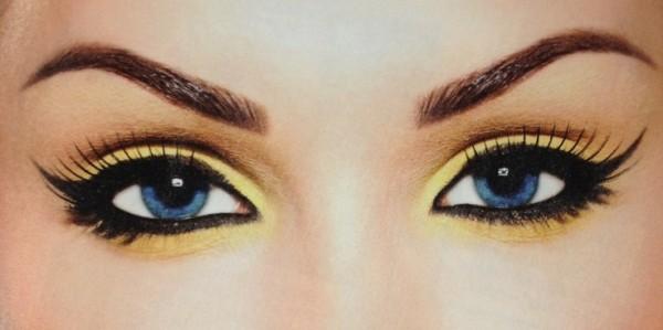 maquillaje-de-abeja-para-carnaval-2016-maquillaje-de-ojos-sencillo