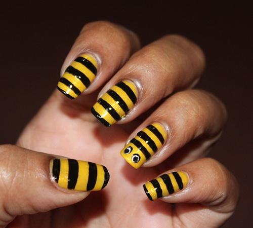 maquillaje-de-abeja-para-carnaval-2016-uñas-de-abeja