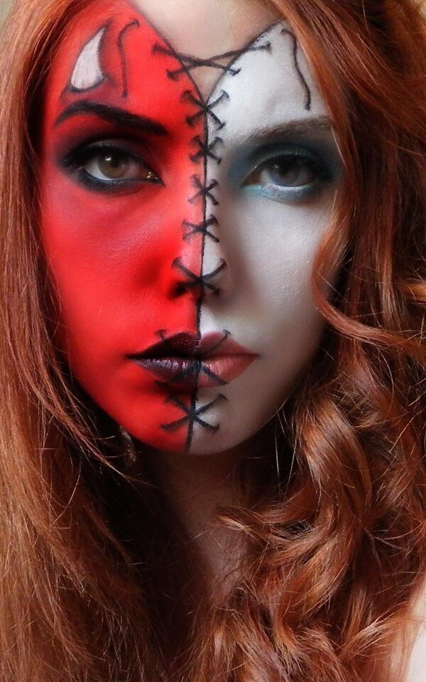 maquillaje-disfraz-de-angel-o-demonio-carnaval-2016-raya-en-medio