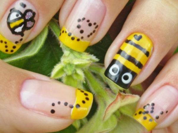 maquillaje-abeja-halloween-2016-manicura
