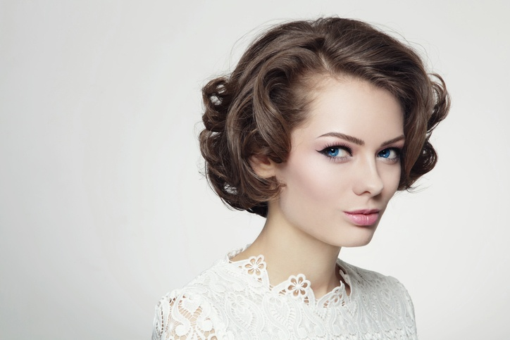 Maquillaje de novia de tarde vintage