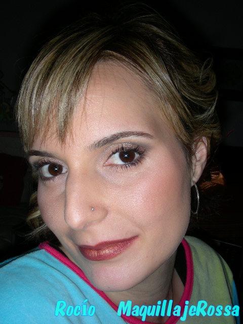 Sombras bronce y negra para fiesta de día - MaquillajeRossa