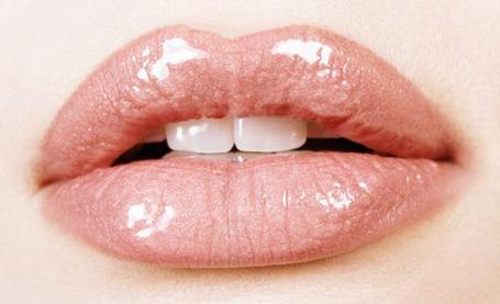 labios rosa claro