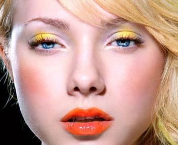maquillaje colores citricos