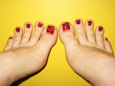 uñas pies estampado