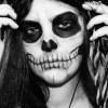 Maquillaje para disfrazarse de esqueleto en Halloween 2014