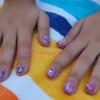 Tutorial: manicura al agua en rosa y morado