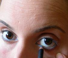 Ojos azul y dorado paso a paso