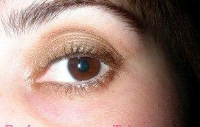 Maquillaje de Fiesta VII. Ojos smokey dorados.