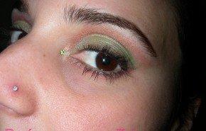 Maquillaje de fiesta V: tonos verdes