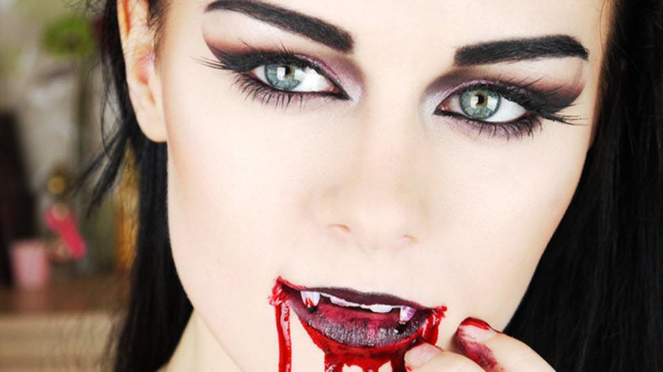 maquillaje de vampiresa