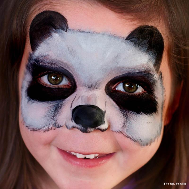Maquillaje para ninos oso panda carnaval 2016 media cara for Caras pintadas para halloween