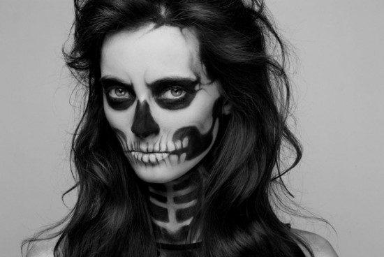 maquillaje para disfrazarse de esqueleto en halloween 2018
