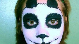 Maquillaje para niños Halloween 2019: Oso panda