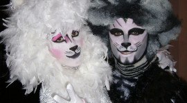 Maquillaje del musical Cats para Halloween 2019