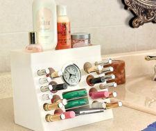 Organizador de cosméticos para el baño
