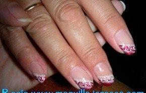 Uñas rojas y blancas con diseño Konad paso a paso