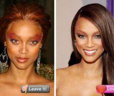 El pésimo maquillaje de Tyra Banks