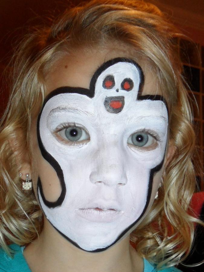 Maquillaje para ninos en halloween 2014 maquilllaje fantasma en la cara maquillajerossa - Como pintar a una nina de bruja para halloween ...