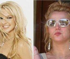 Britney Spears con y sin maquillaje.
