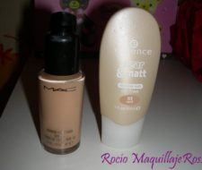Comparativa: Studio Fix Fluid MAC vs Clear and Matt Essence