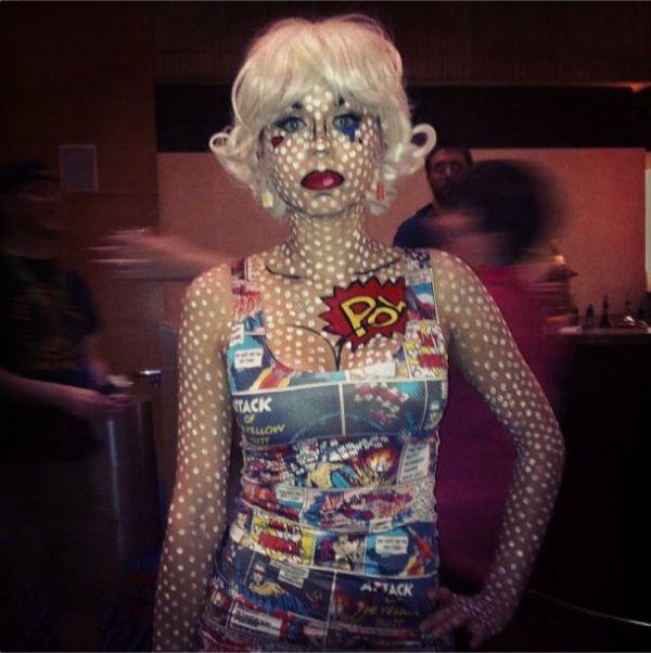 maquillarse-como-chica-de-cómic-en-halloween-2014-IDEA-lunares-blancos