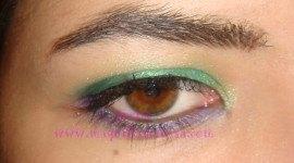 Look en verde y lila para Nochevieja