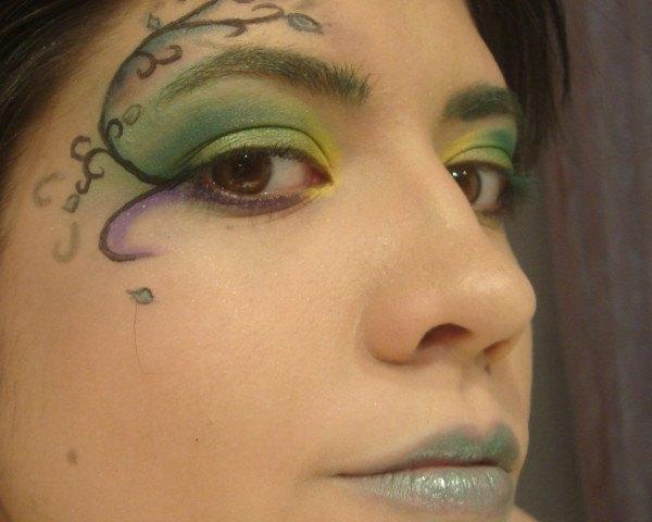 Maquillaje de hada verde Carnaval 2015