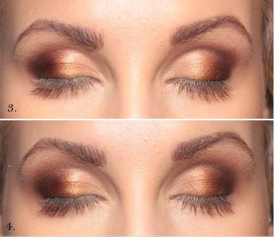 Smokey eyes en dorado y negro tutorial maquillaje for Como maquillar ojos ahumados paso a paso