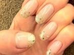 Glitter Gold Striping - bride 2013