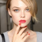 Maquillaje labios rojos