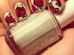 Rosas uñas novias 2013