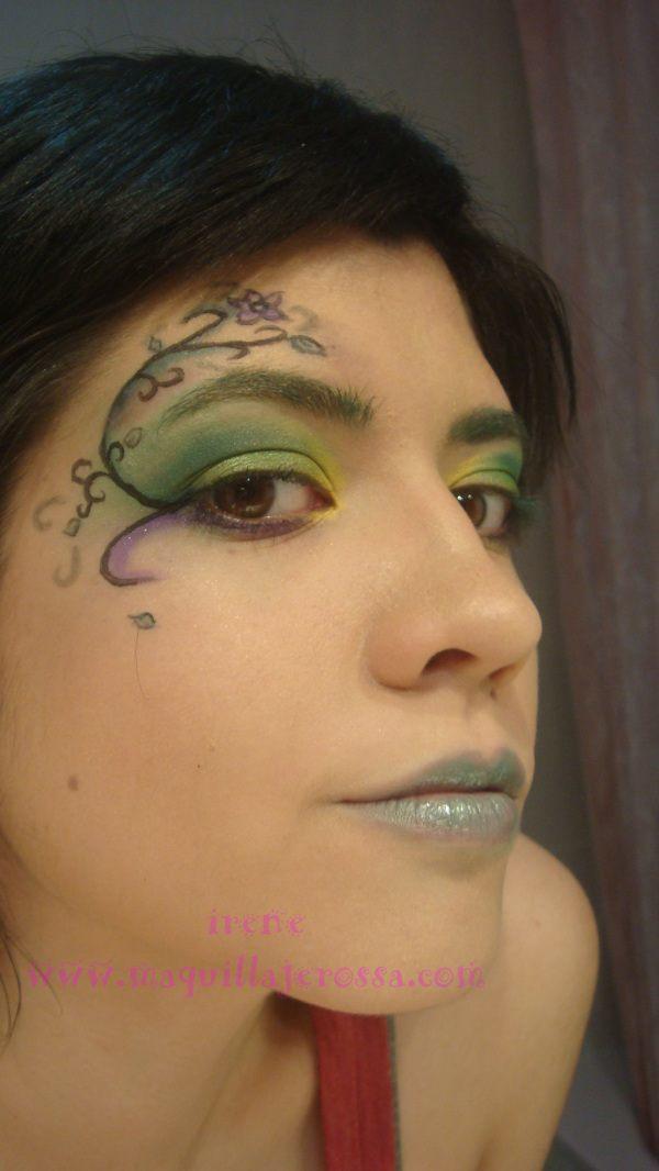 maquillaje-de-hada-verde-carnaval-2015