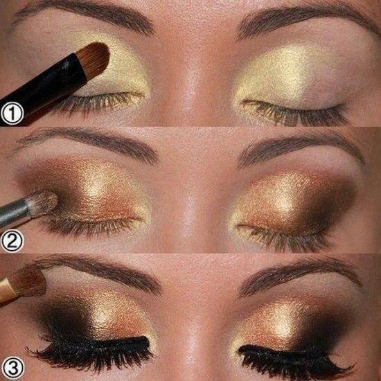 maquillaje-para-graduacion-ojos-dorados