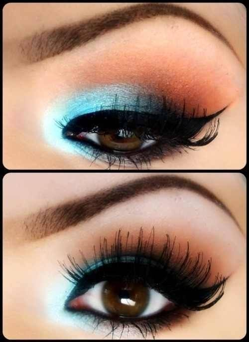 ojos maquillaje azul
