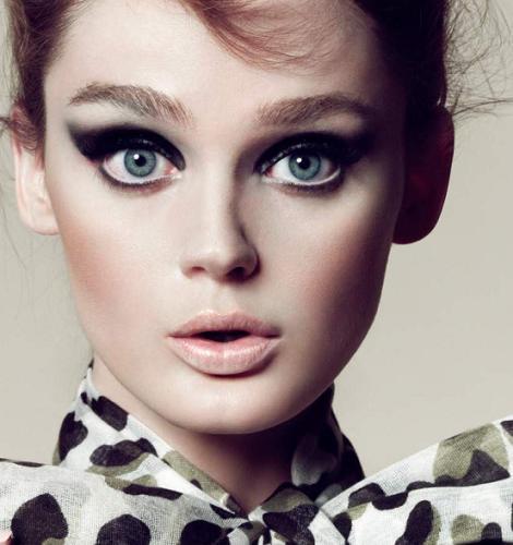 smokey-eye ojos azules