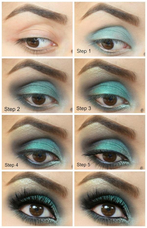 Maquilla Tus Ojos En Azul Paso A Paso Maquillajerossa - Pintura-de-ojos-paso-a-paso