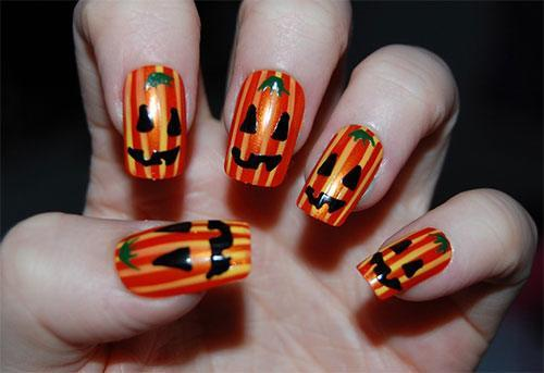 uñas-decoradas-para-halloween-2014-calabazas
